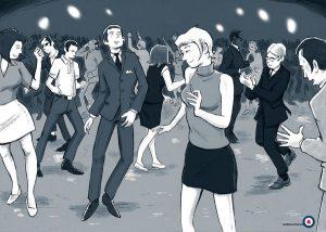 Fietsmod de hele nacht dansen